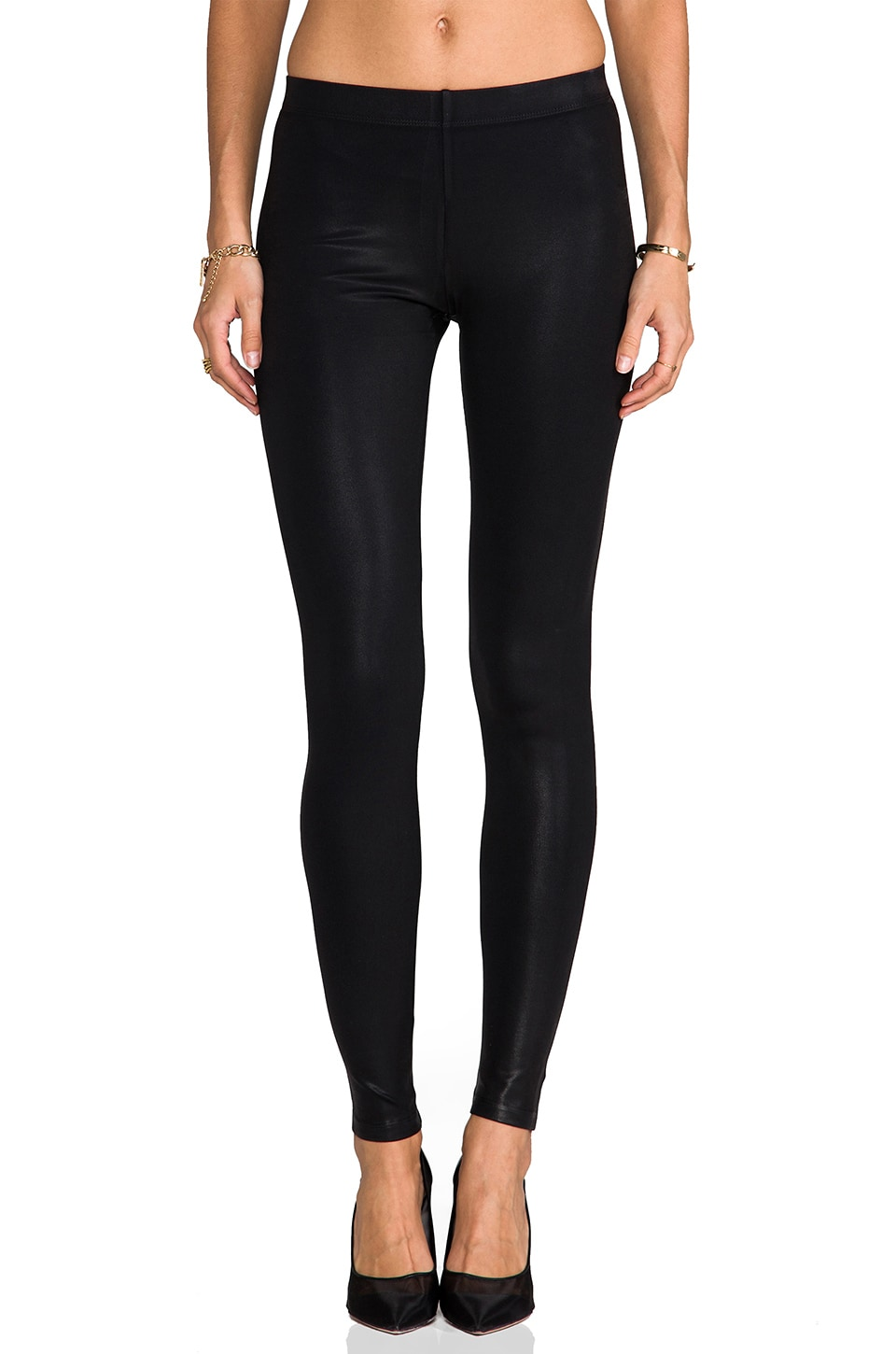 David Lerner Coated Classic Legging in Black