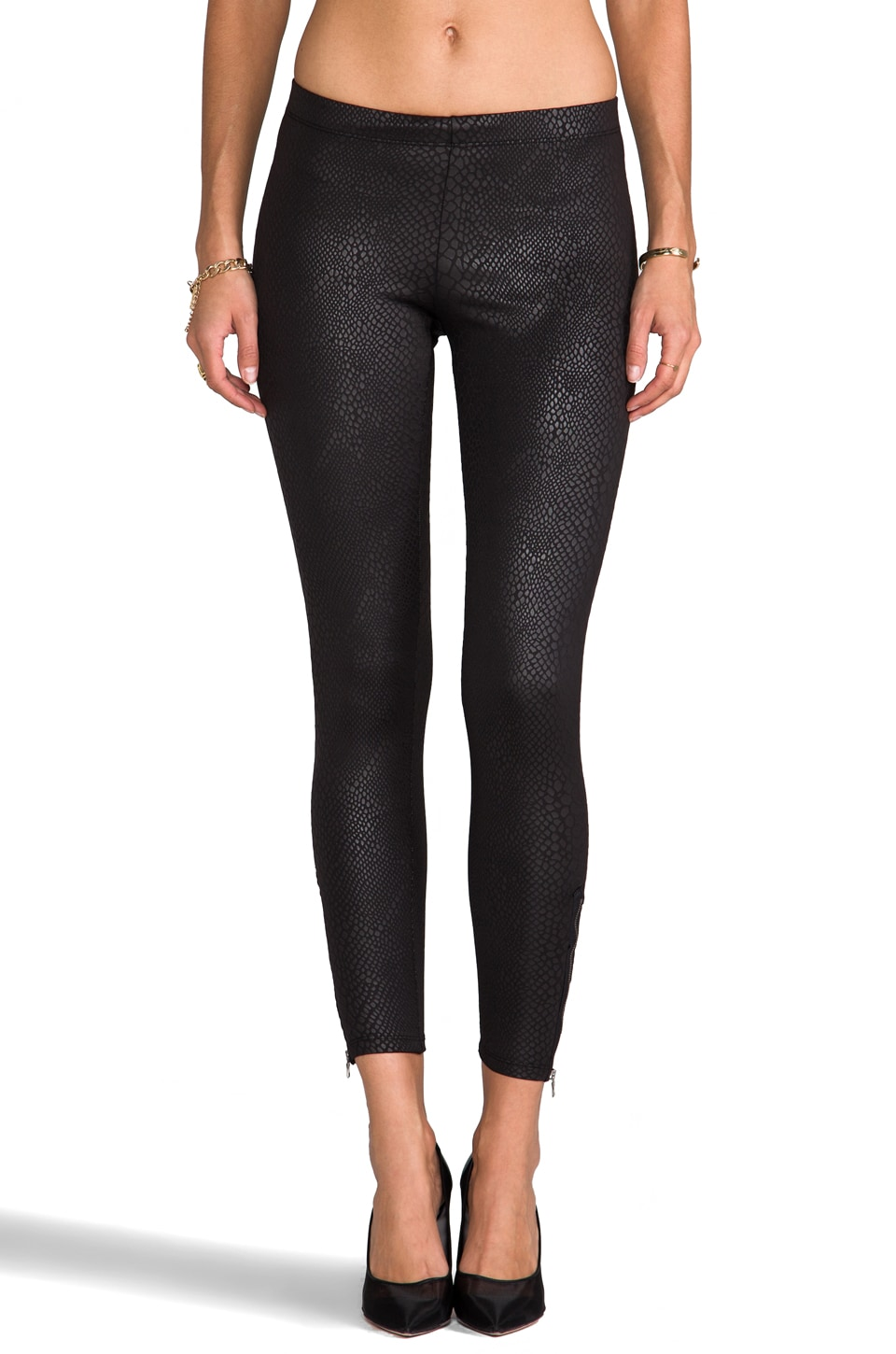 David Lerner Side Zip Legging in Python