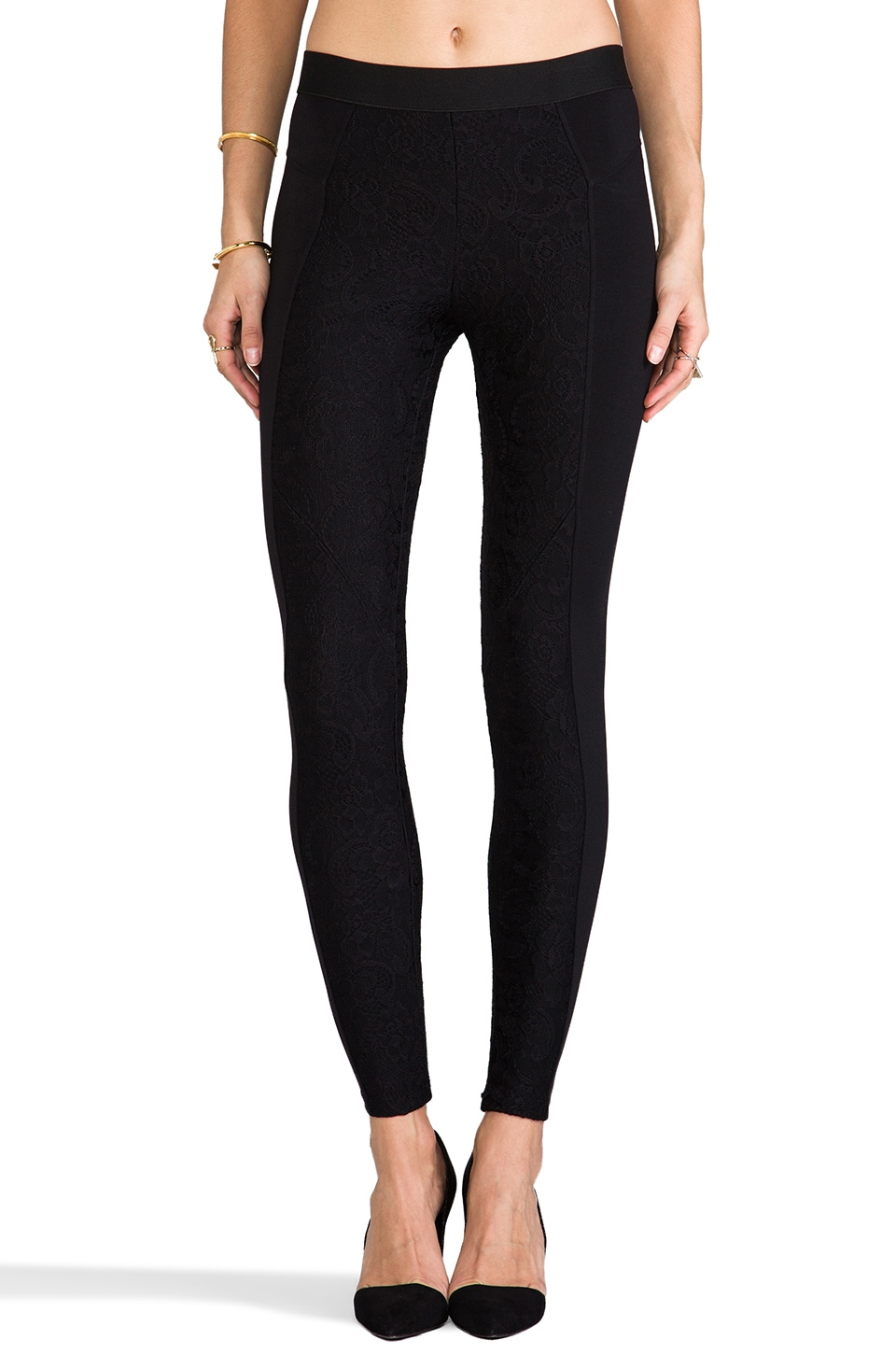 David Lerner Bergen Lace Legging in Black