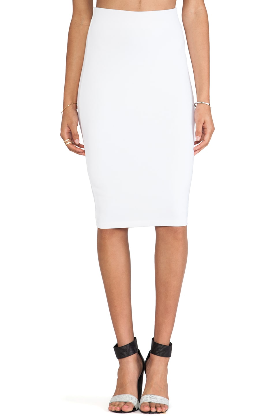 David Lerner Tube Midi Skirt in White
