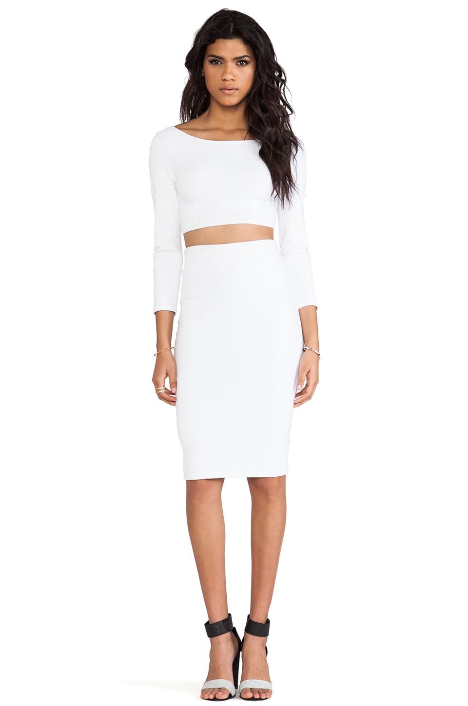 David Lerner Tube Midi Skirt in White | REVOLVE