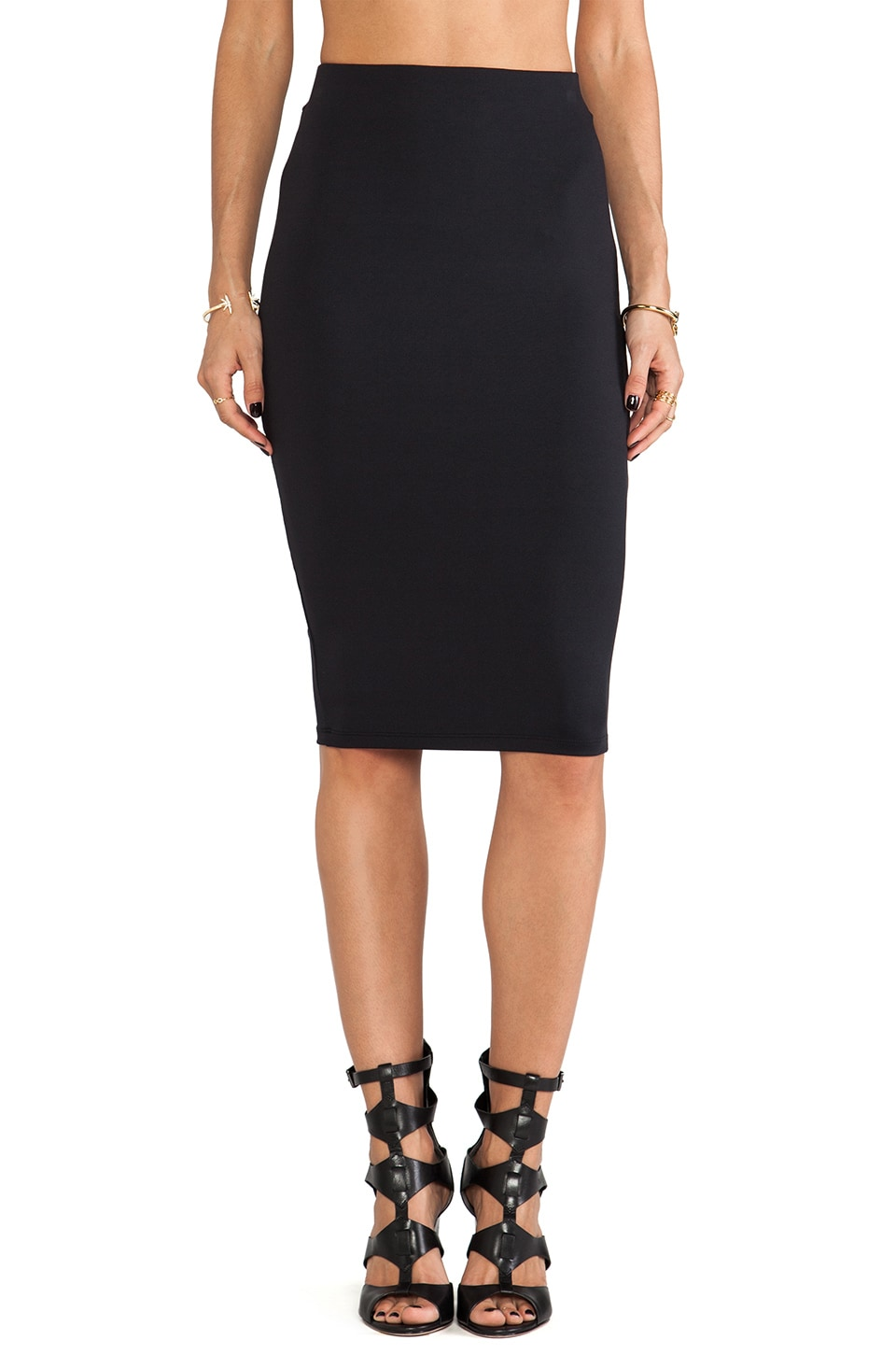 David Lerner Tube Midi Skirt in Classic Black | REVOLVE