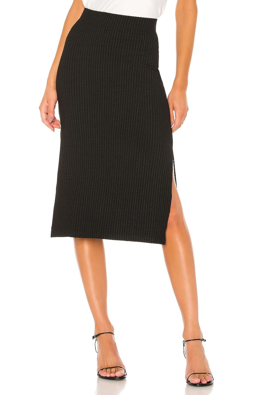 David Lerner Midi Skirt in Black