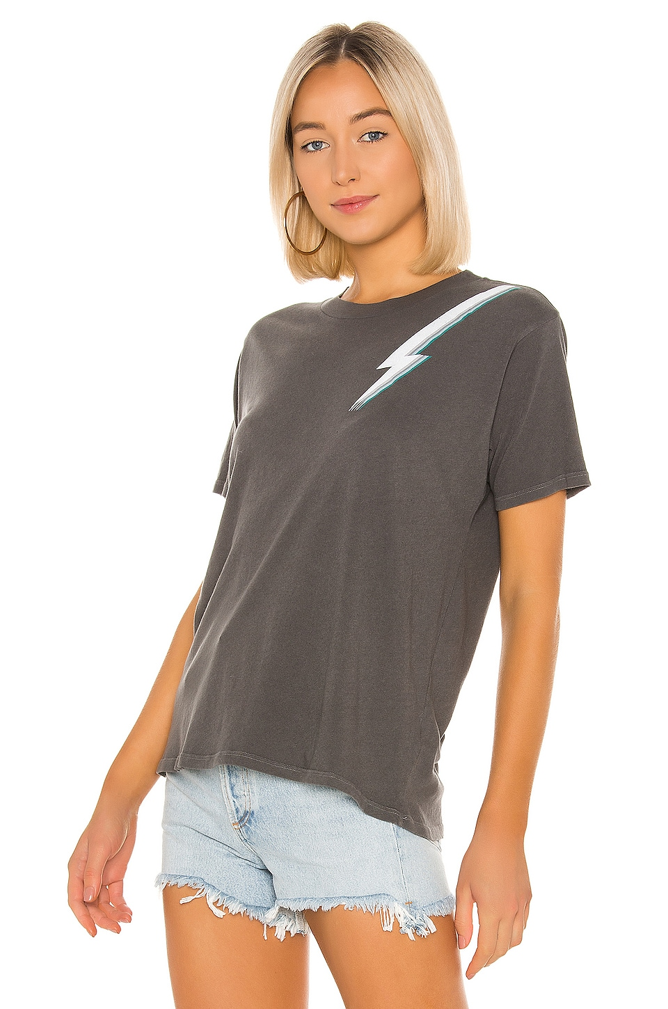 Lightning Bolt Boyfriend Tee, view 2, click to view large image.