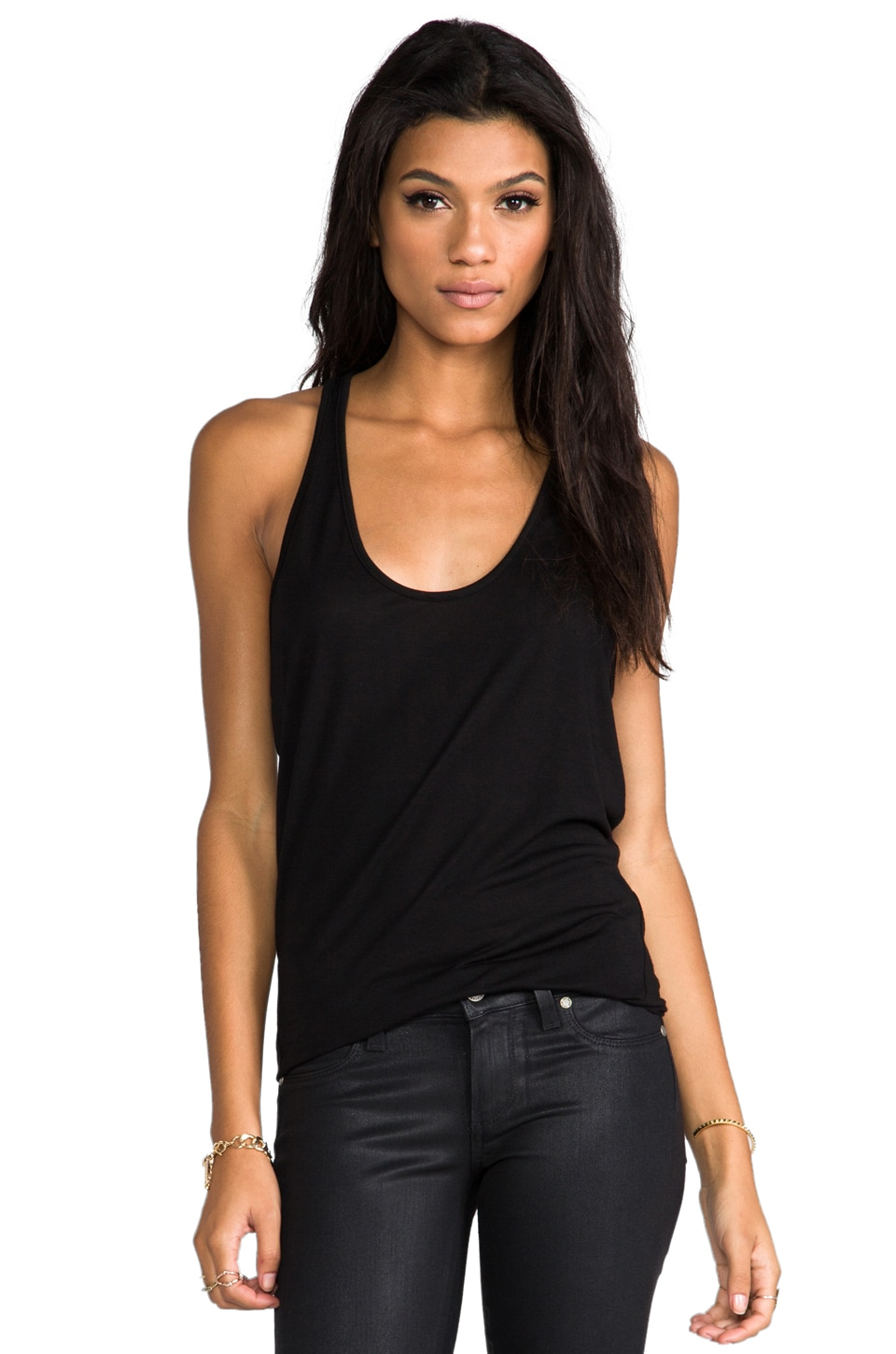 David Lerner Modern Wedge Tank in Black