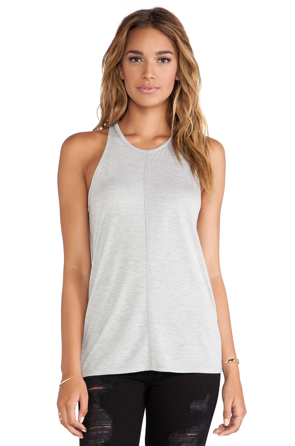 David Lerner A Line Tank in Grey
