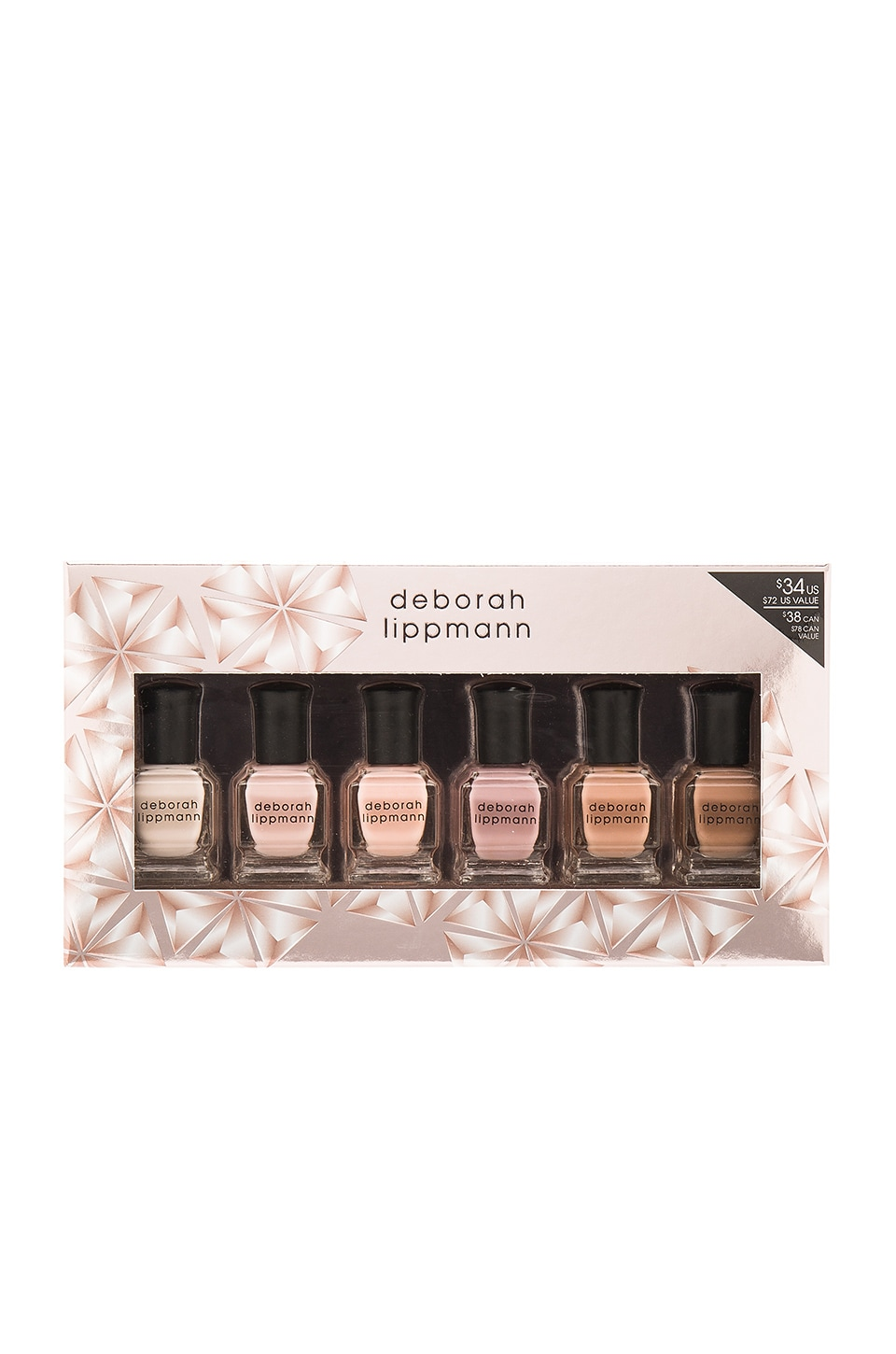 Deborah Lippmann Undressed 6 Piece Nail Lacquer Holiday Set