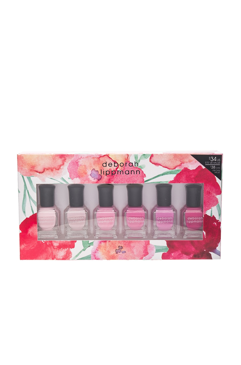 Deborah Lippmann 6 Piece Pink Nail Lacquer Set in Pretty In Pink