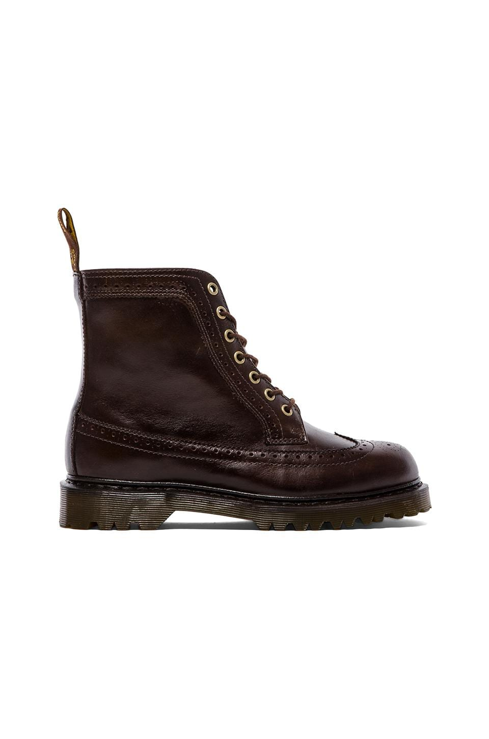 Dr. Martens Fitzroy 7-Eye Brogue Boot in Dark Brown