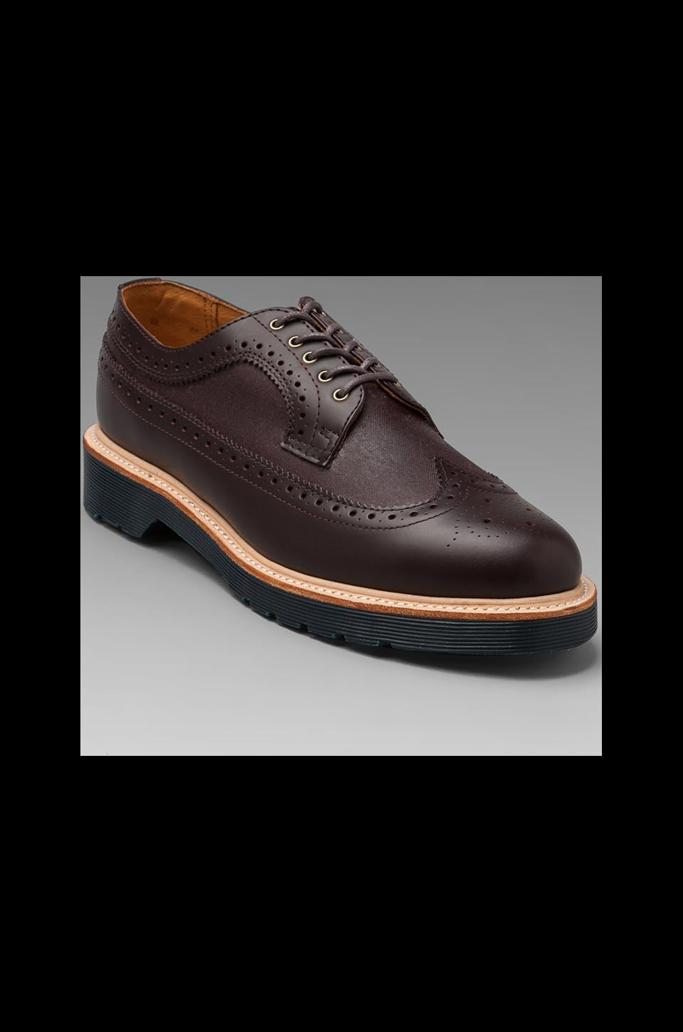Dr. Martens Alfred Brogue Shoe in Oxblood