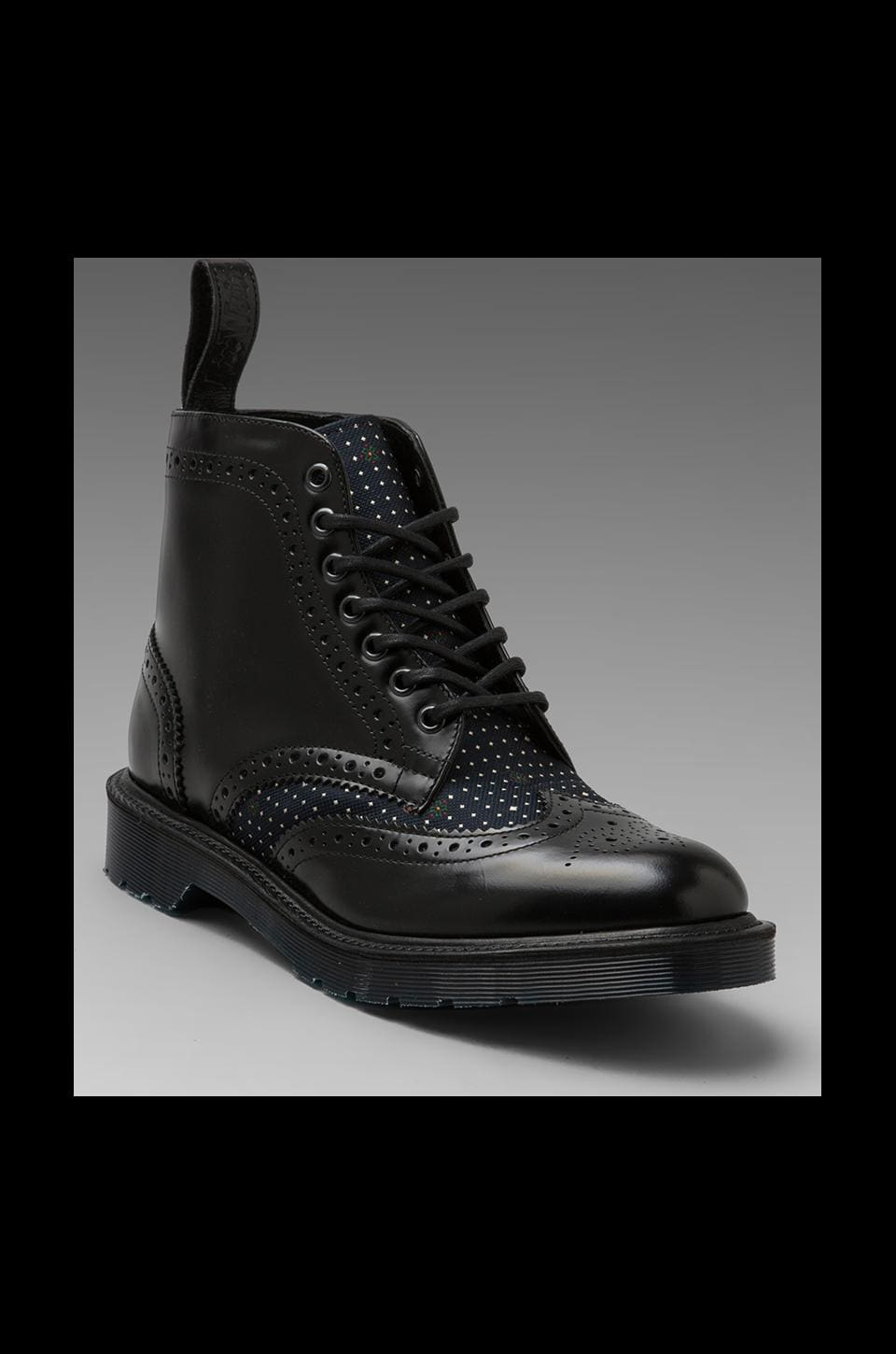 Dr. Martens Made In England Anthony Brogue Boot in Black/Navy
