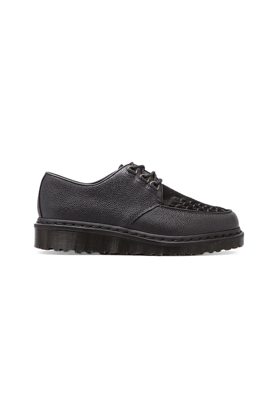 Dr. Martens Beck Creeper Scotchgrain + Italian Hair in Black