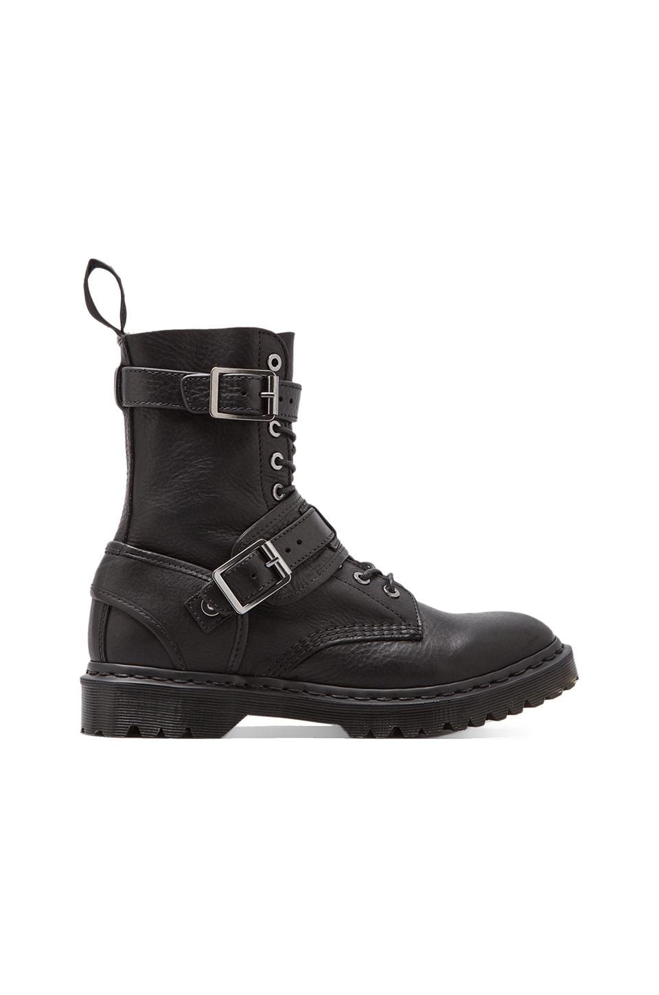 Dr. Martens Dalton Buckle Lace Boot in Black