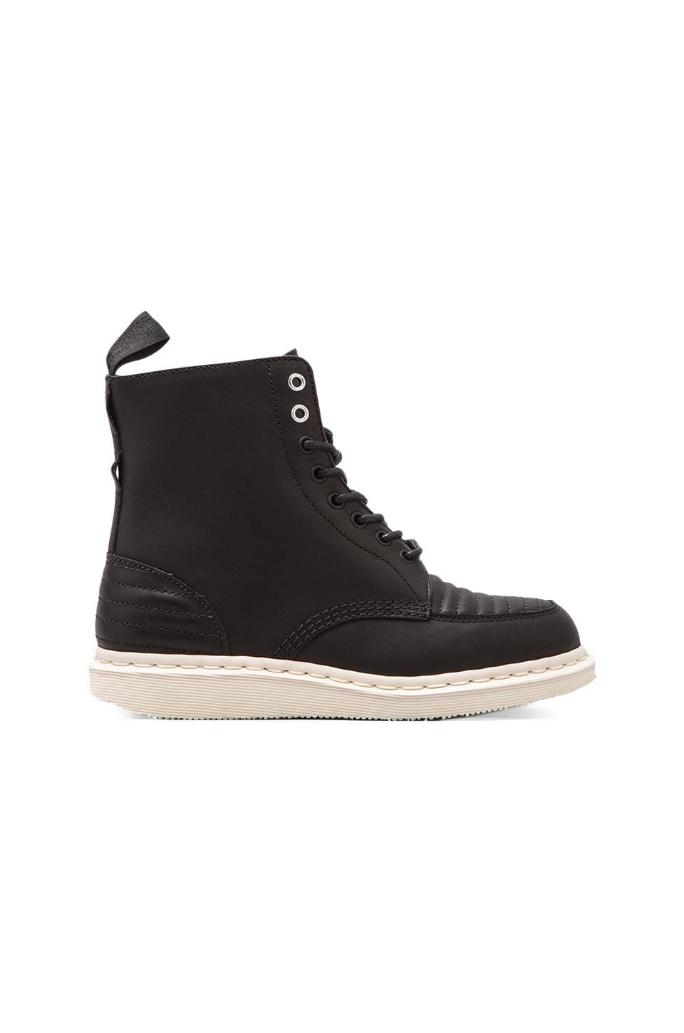 Dr. Martens Javyon 8-Eye Toe Cap Boot in Black