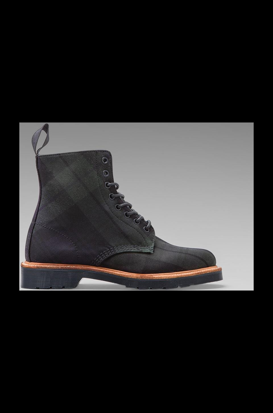 Dr. Martens Beckett 8-Eye Boot Millerrain Check in Navy + Green