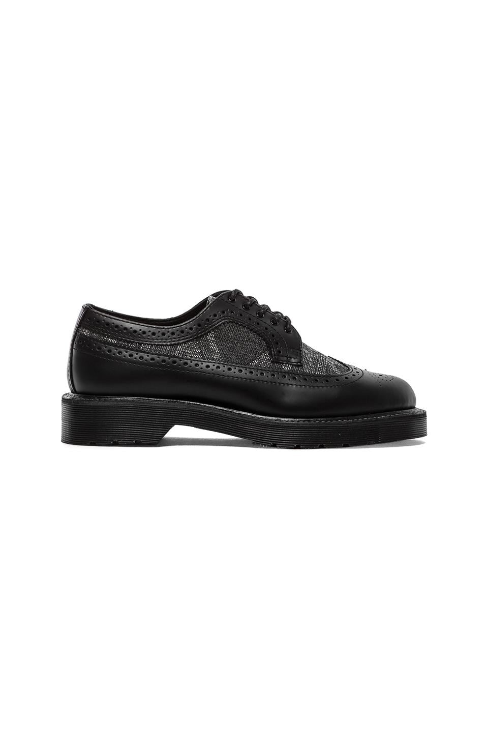 Dr. Martens Alfred Brouge Union Jack Shoe in Black & Monochrome