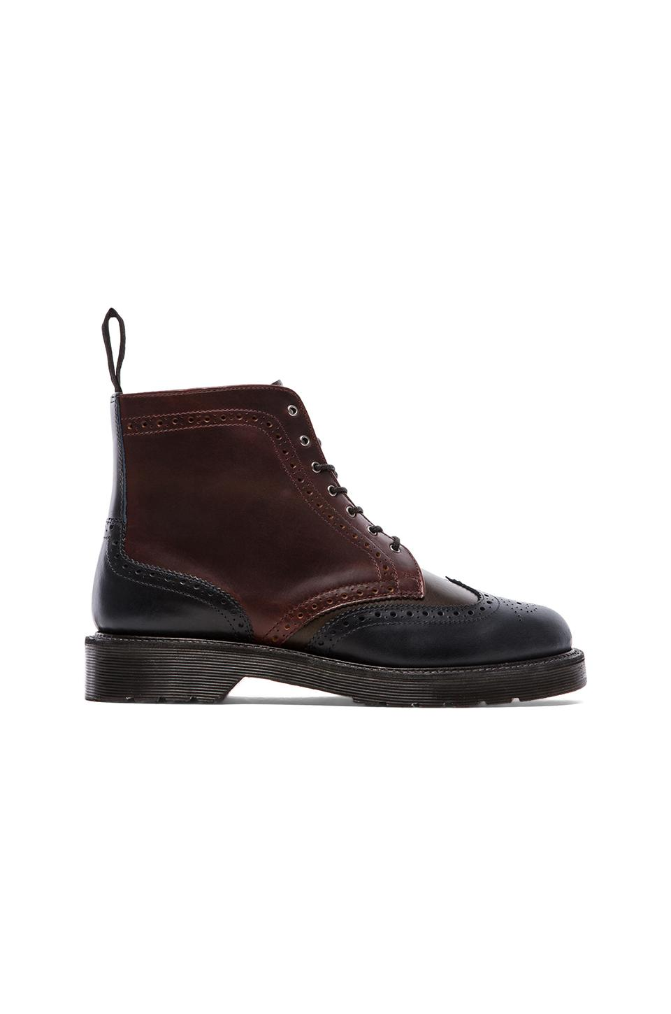 Dr. Martens Bentley Brouge Boot in Navy & Green & Charro Oxblood & Classic