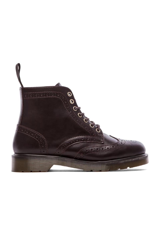 Dr. Martens Affleck Brogue Boot in Dark Brown