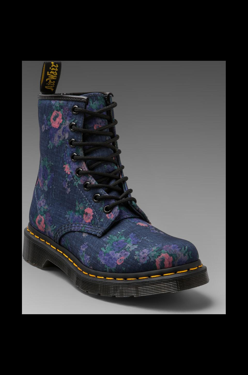 Dr. Martens Castle 8-Eye Boot in Denim Floral