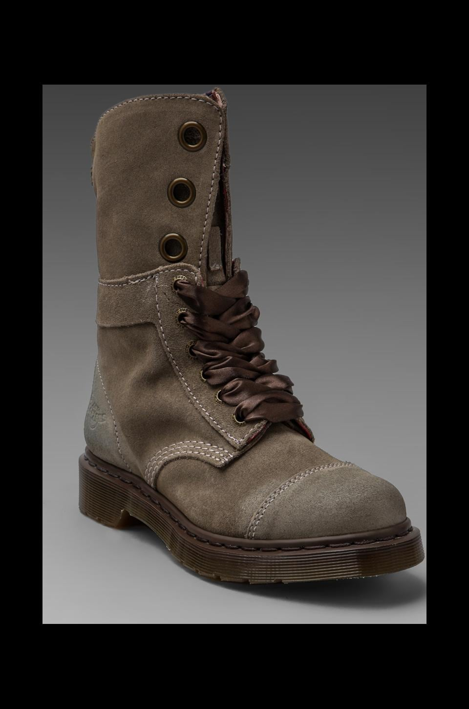 Dr. Martens Aimee 9 Eye Toe Cap Boot in Taupe