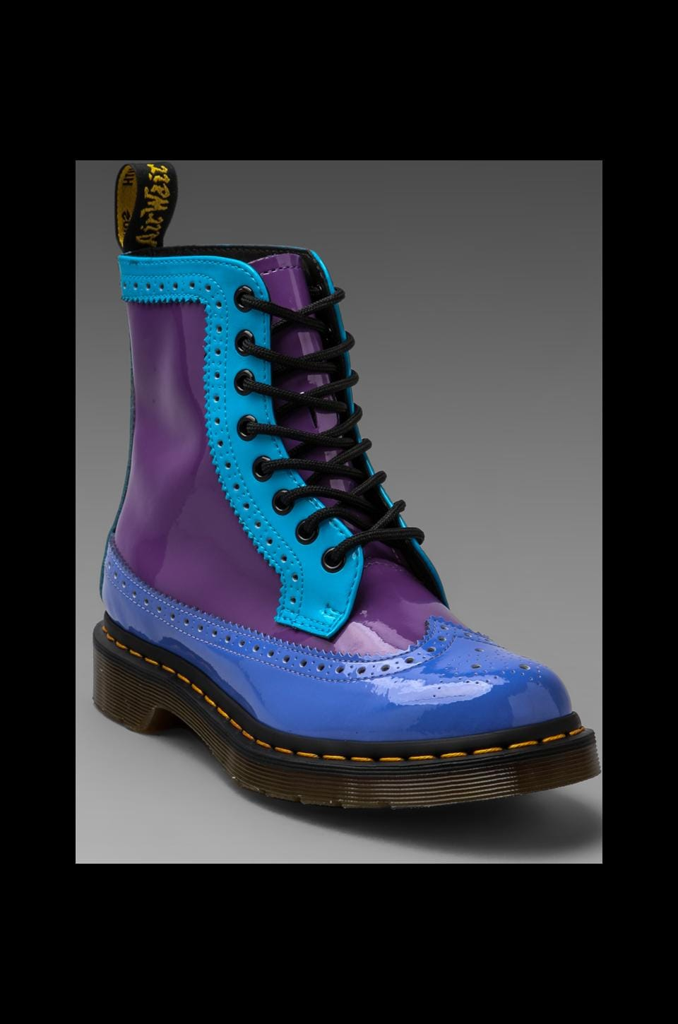 Dr. Martens Harrie Brouge Boot in Purple/Blue Multi