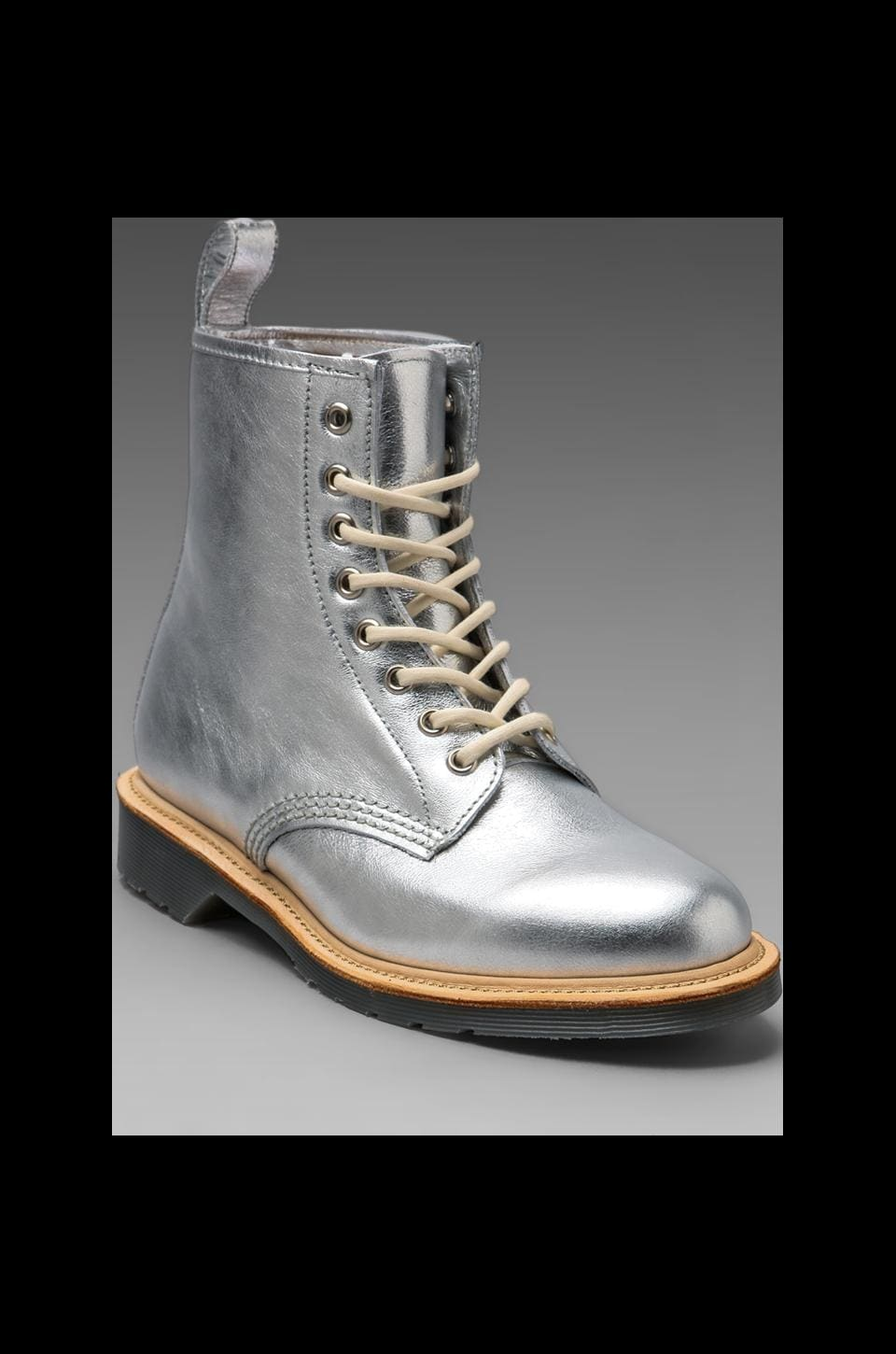Dr. Martens 8-Eye Boot in Sliver