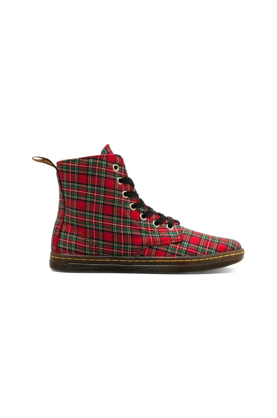 Dr. Martens Hackney 7-Eye Boot in Red Stewart