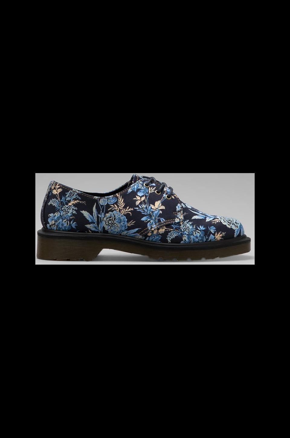 Dr. Martens Lester 3-Eye Shoe in Blue Floral