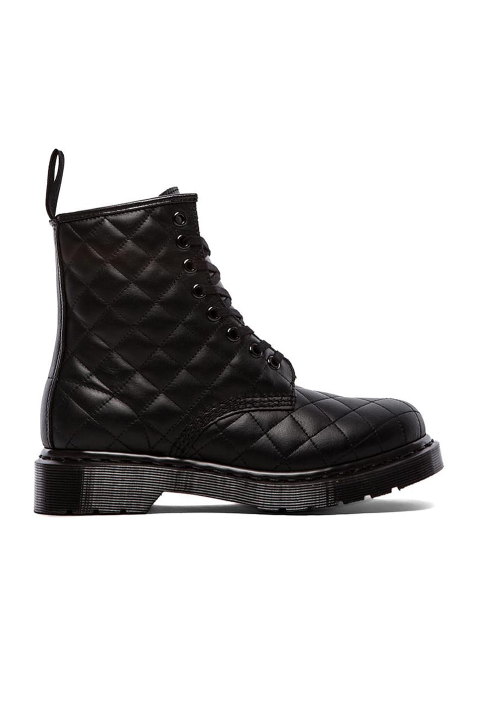 Dr. Martens Coralie Quilted 8-Eye Boot in Black