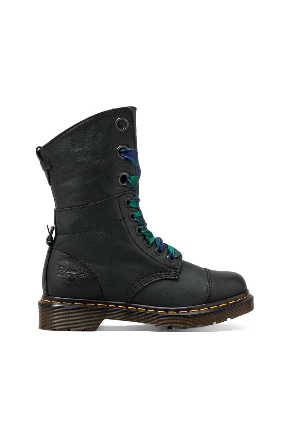 Dr. Martens Aimilie 9-Eye Toe Cap Boot in Black