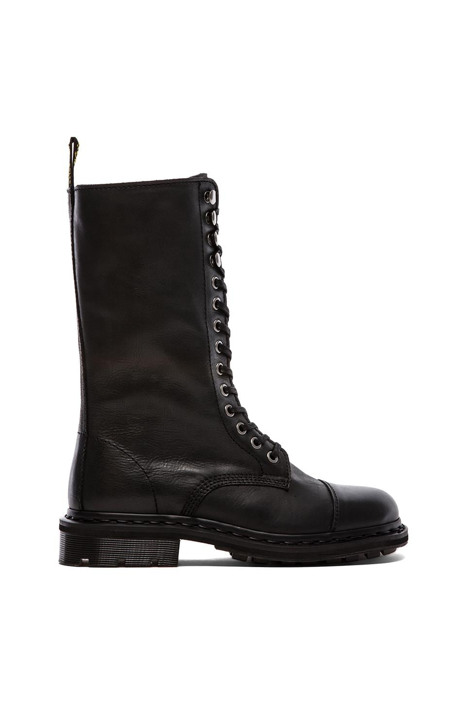 Dr. Martens Bridge 14-Eye Fold Down Boot in Black