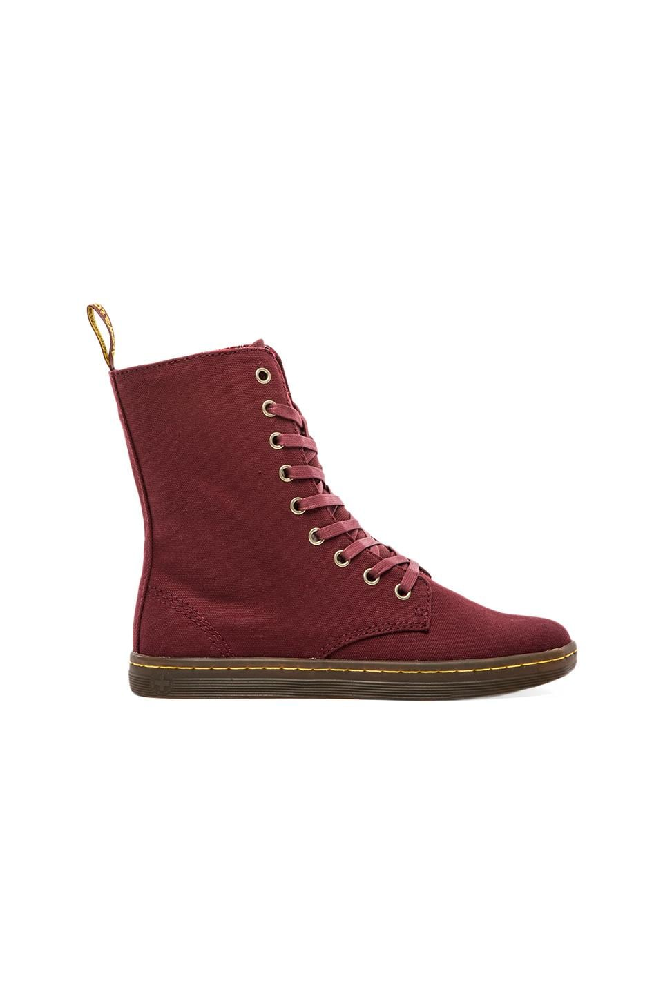 Dr. Martens Stratford 9-Eye Fold Down Boot in Cherry Red