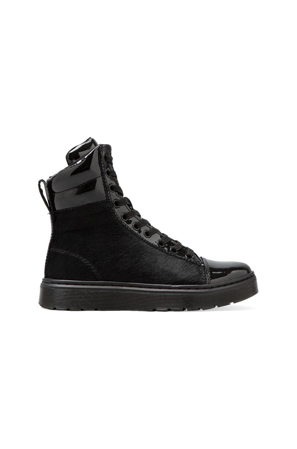 Dr. Martens Fade PC Hi Top Toe Cap with Calf Fur in Black