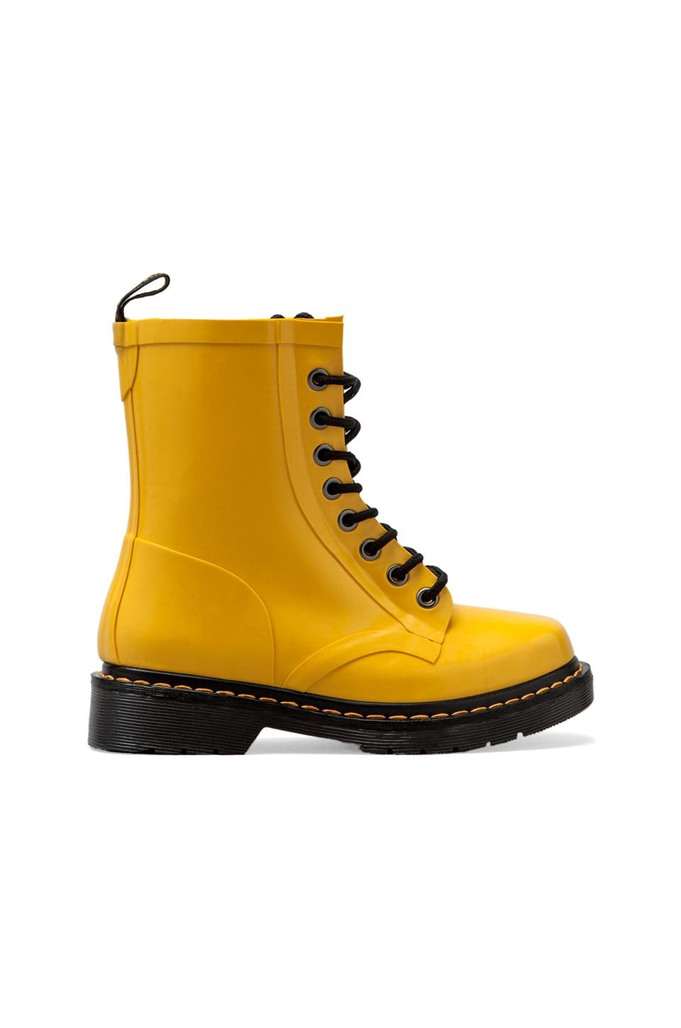 Dr. Martens Drench 8-Eye Rain Boot in Yellow Patent