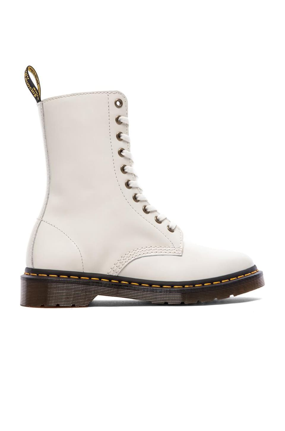 Dr. Martens Alix 10-Eye Zip Boot in Off White