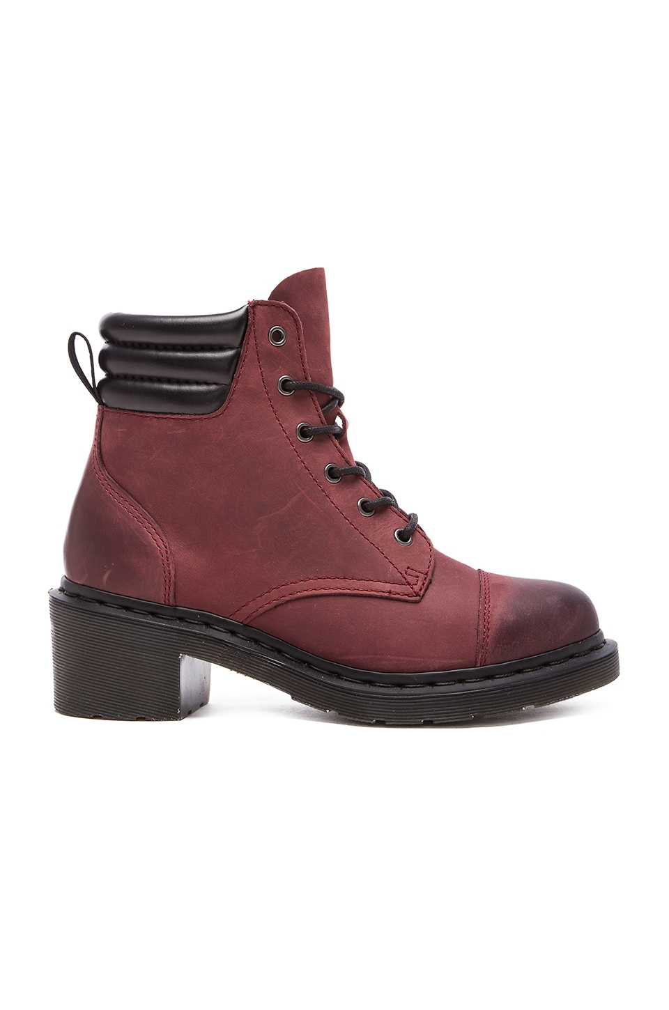 Dr. Martens Alexandra 6-Eye Padded Collar Boot in Old Cherry