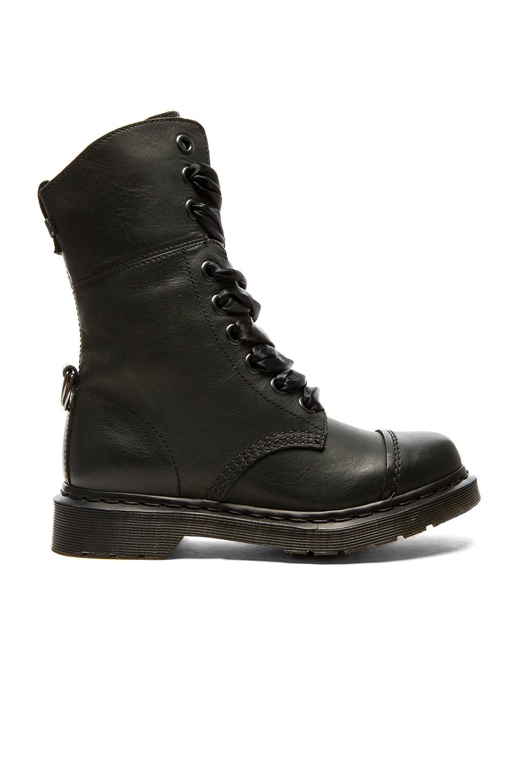 Dr. Martens Aimilita 9-Eye Toe Cap Boot in Black