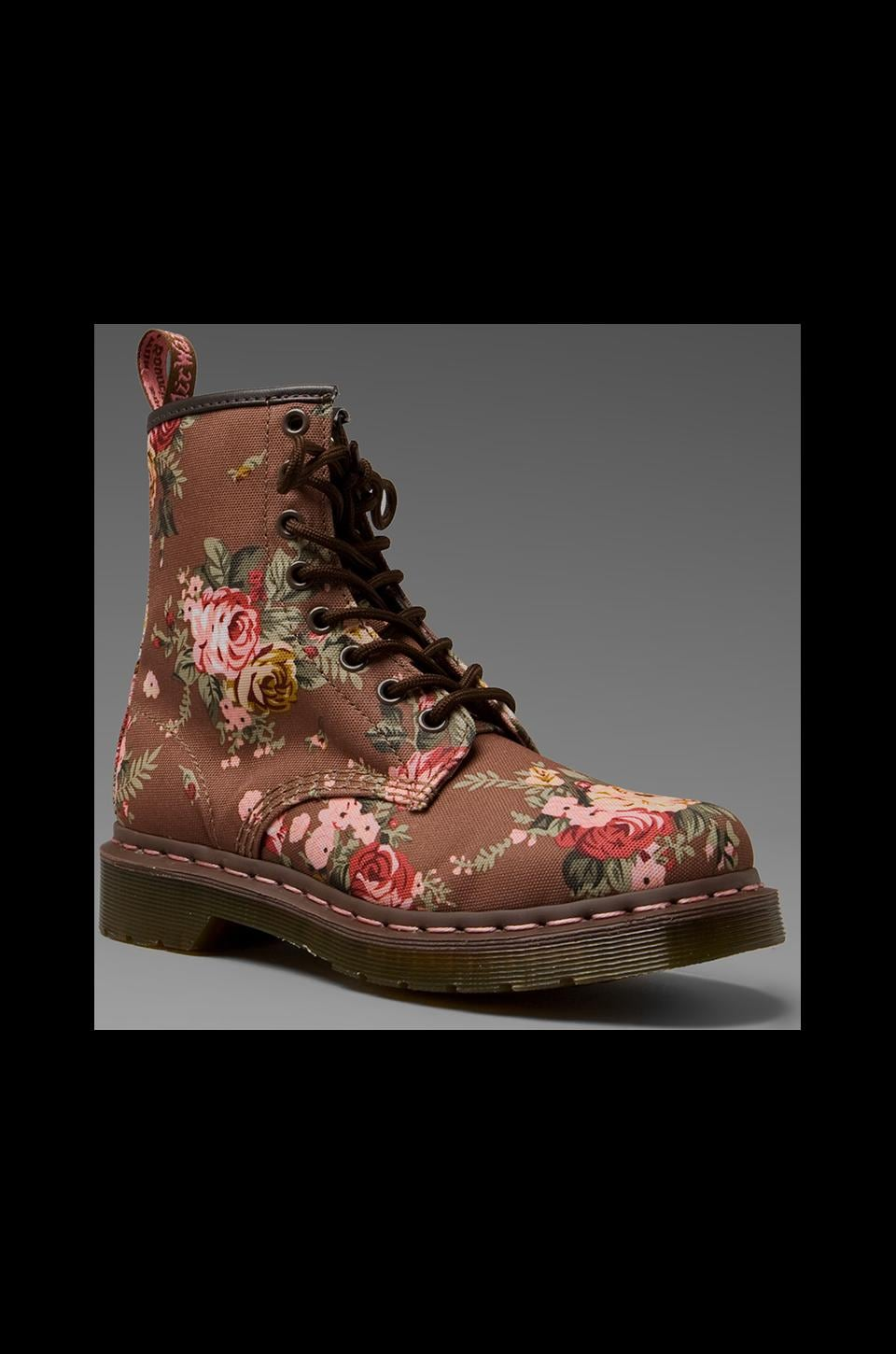 Dr. Martens 1460 8 Eye Boot in Taupe Victorian Flowers