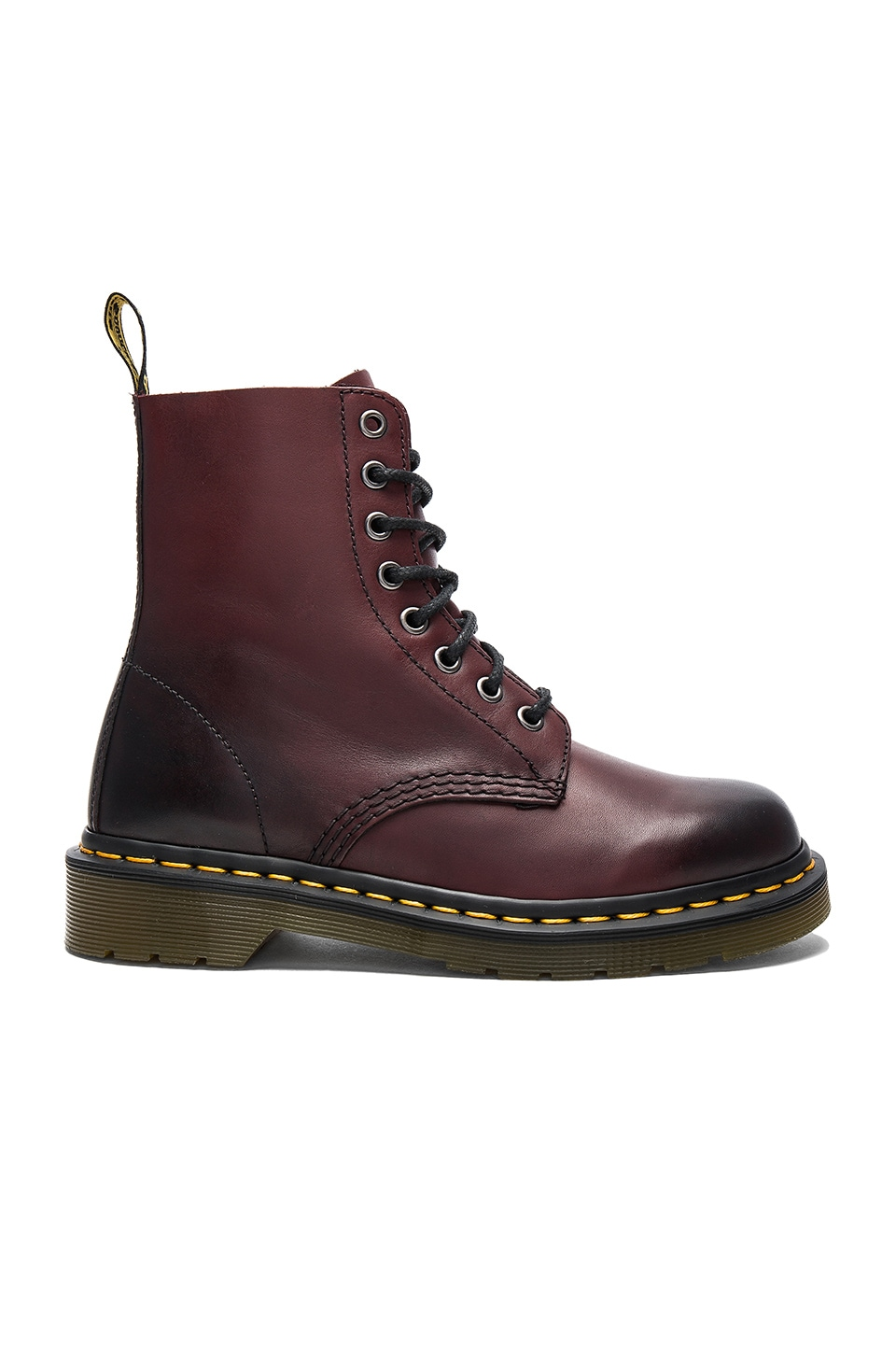Dr. Martens Pascal 8 Eye Boot in Cherry Red