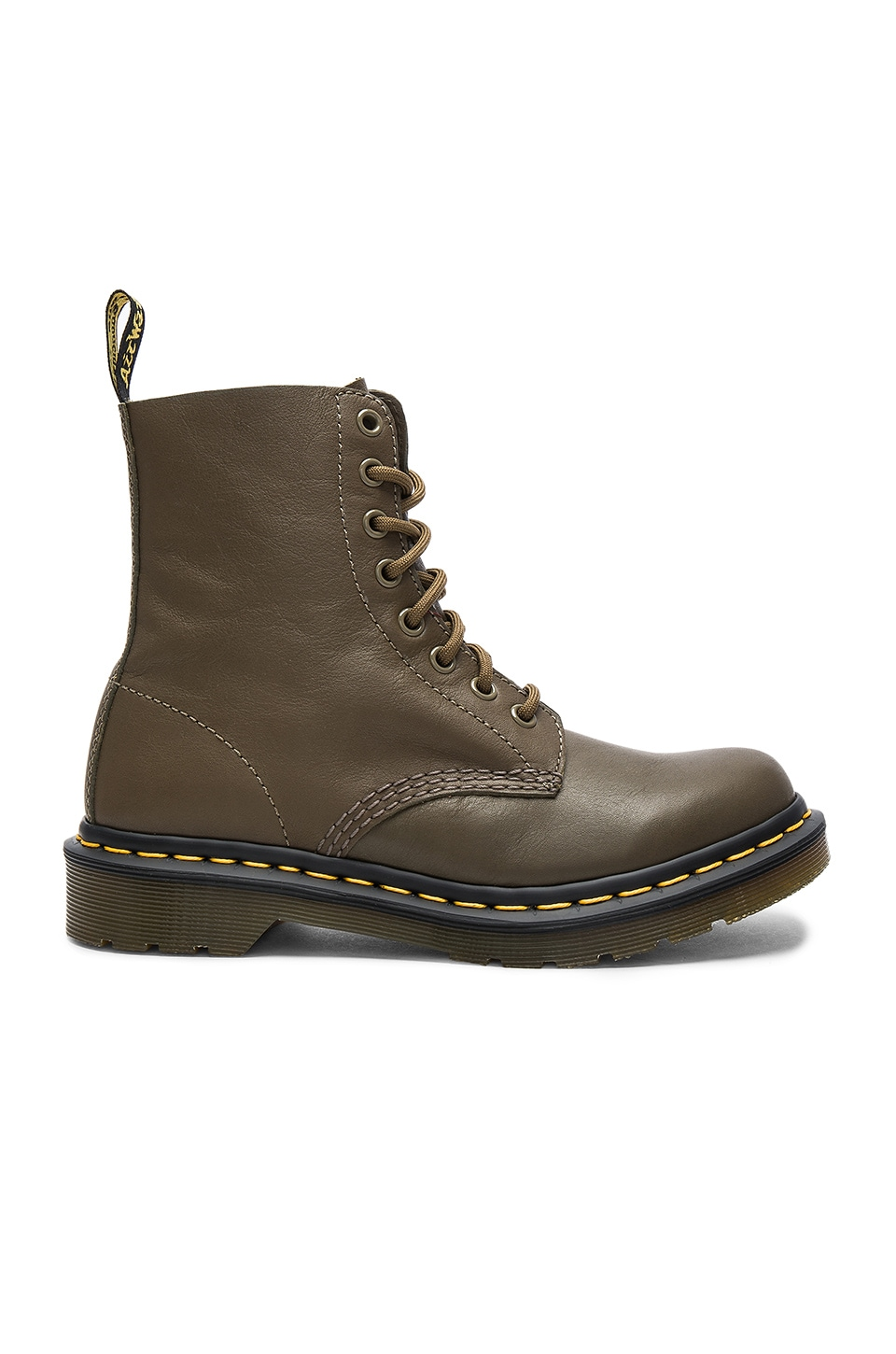 Dr. Martens Pascal 8 Eye Boots in Grenade Green