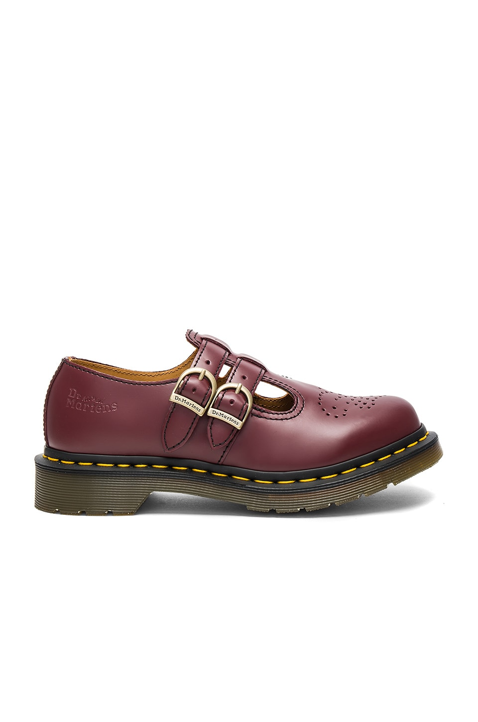 Dr. Martens Mary Jane Flats in Cherry Red