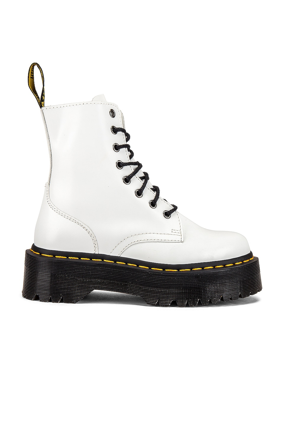 Dr. Martens Jadon Polished Smooth Boot in White