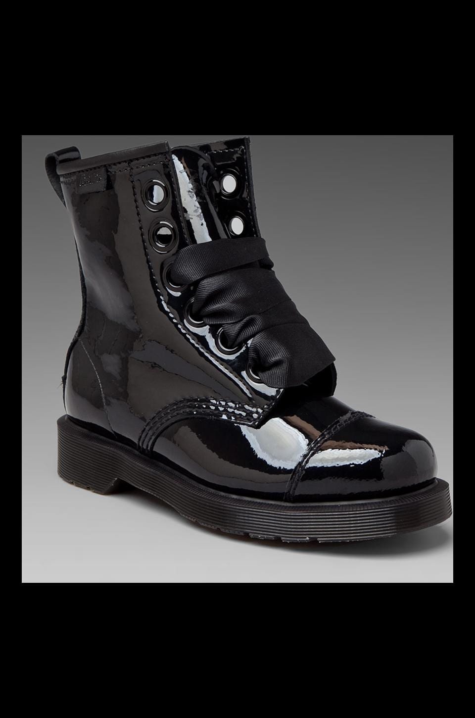 Dr. Martens Grace Bow 8-Eye Capper Boot in Black