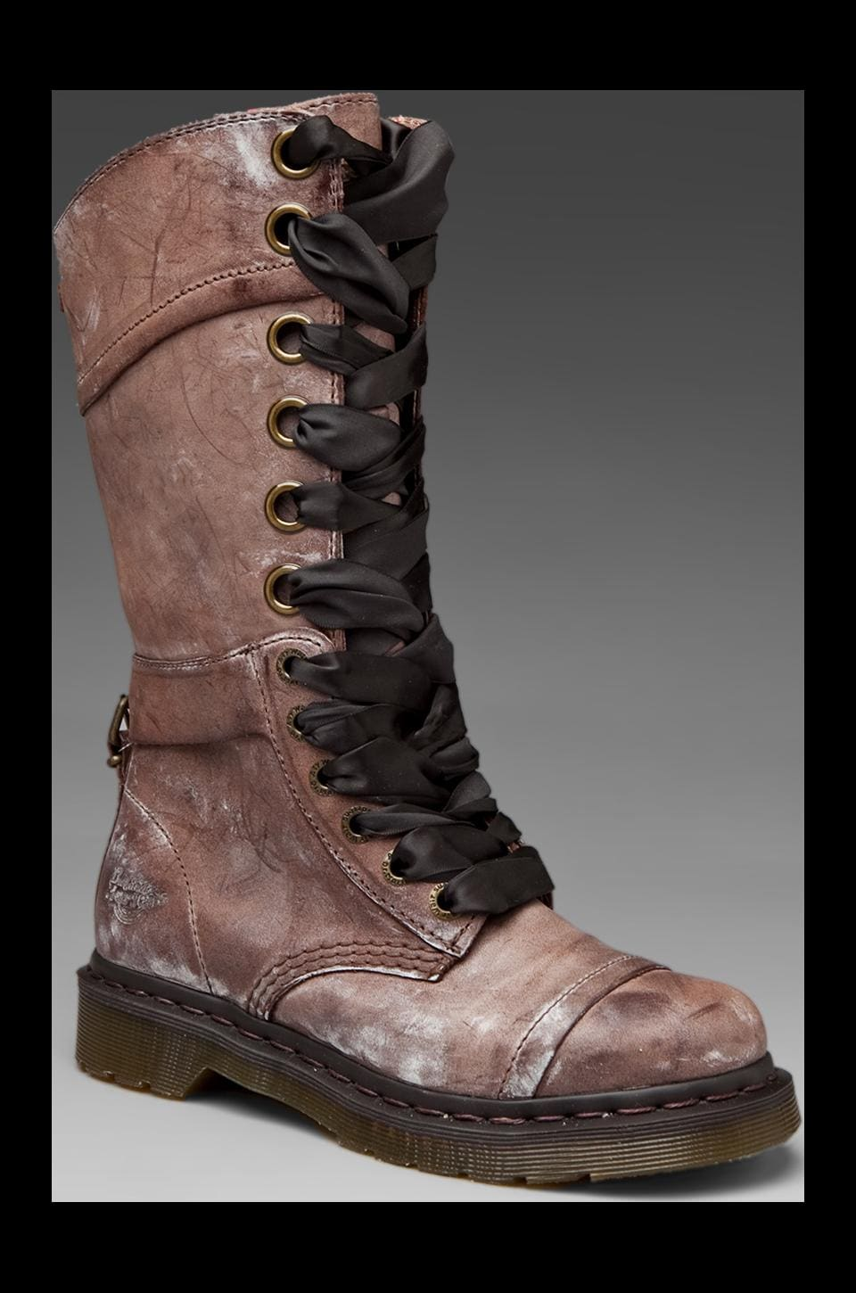 Dr. Martens Triumph 14 Eye Boot in Brown Brun