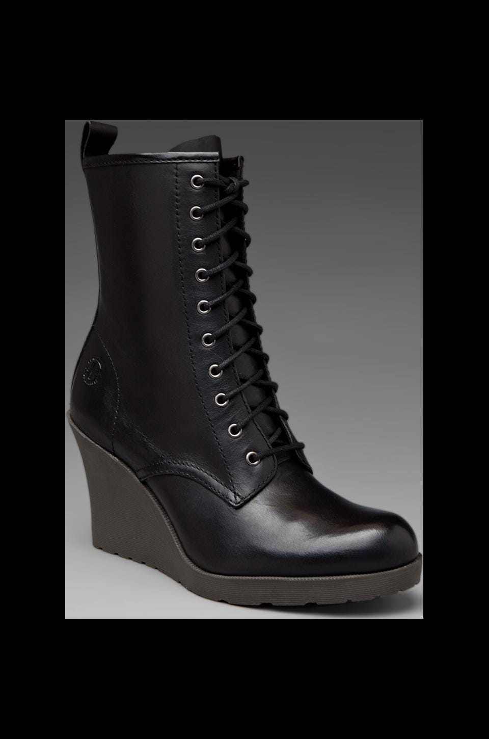 Dr. Martens Marcie 10 Eye Zip Boot in Black