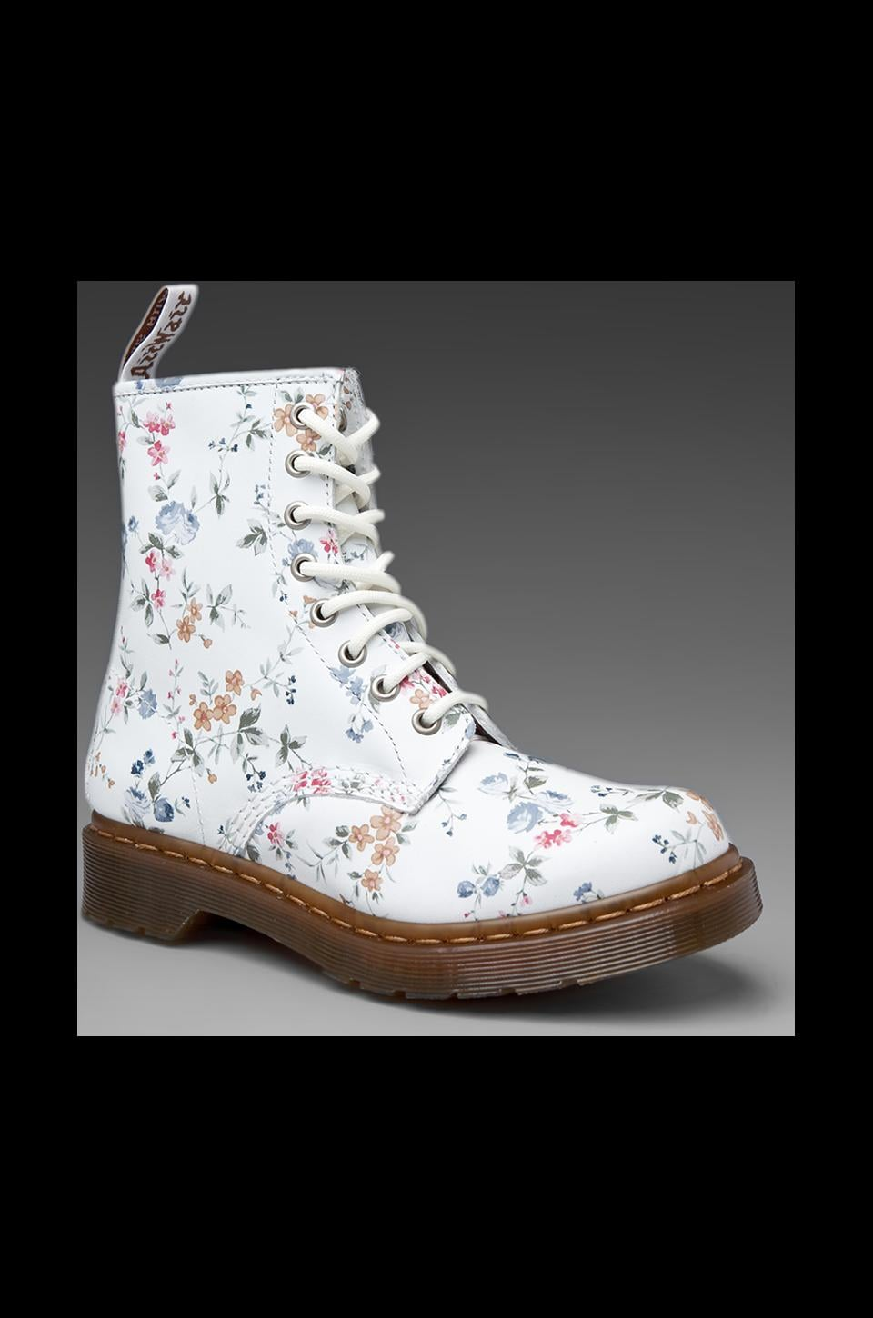 Dr. Martens 1460 W 8-Eye Boot/White in Wild Rose