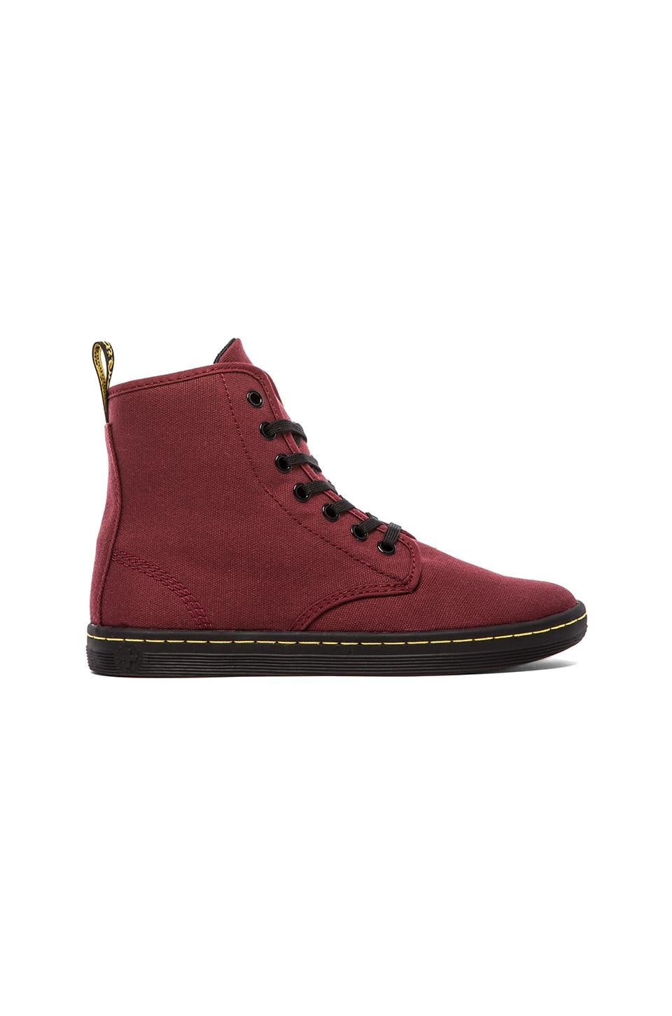 Dr. Martens Shoreditch 7-Eye Sneaker in Cherry Red