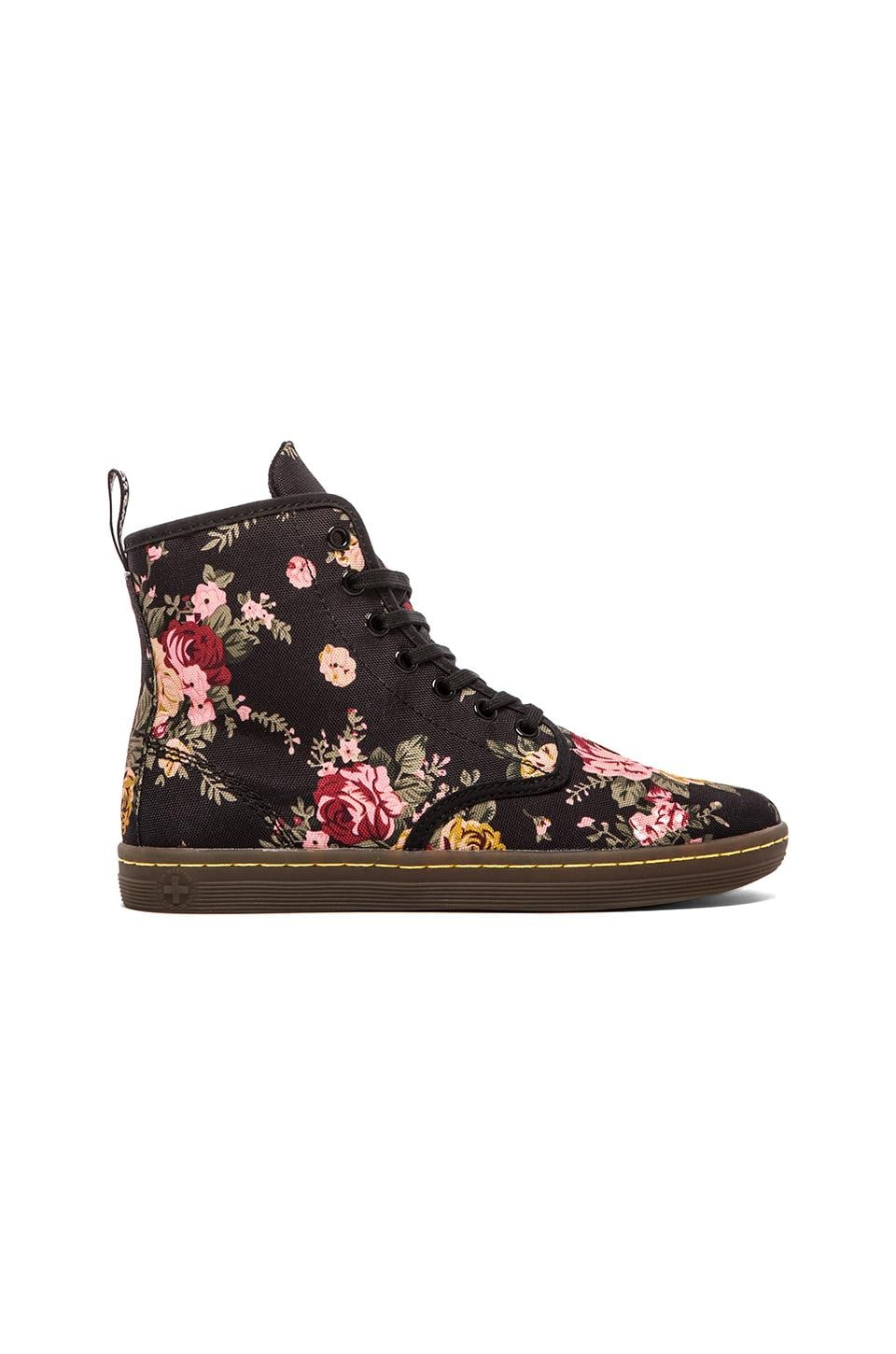 Dr. Martens Shoreditch 7-Eye Boot in Black Floral