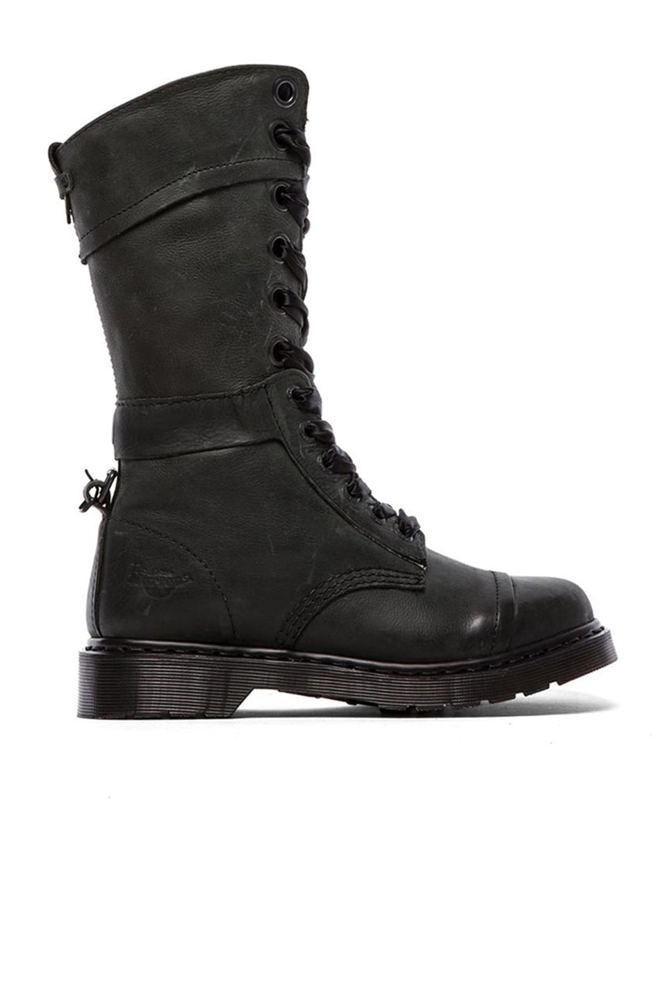 Dr. Martens Triumph 1914 W 14-Eye Boot in Black