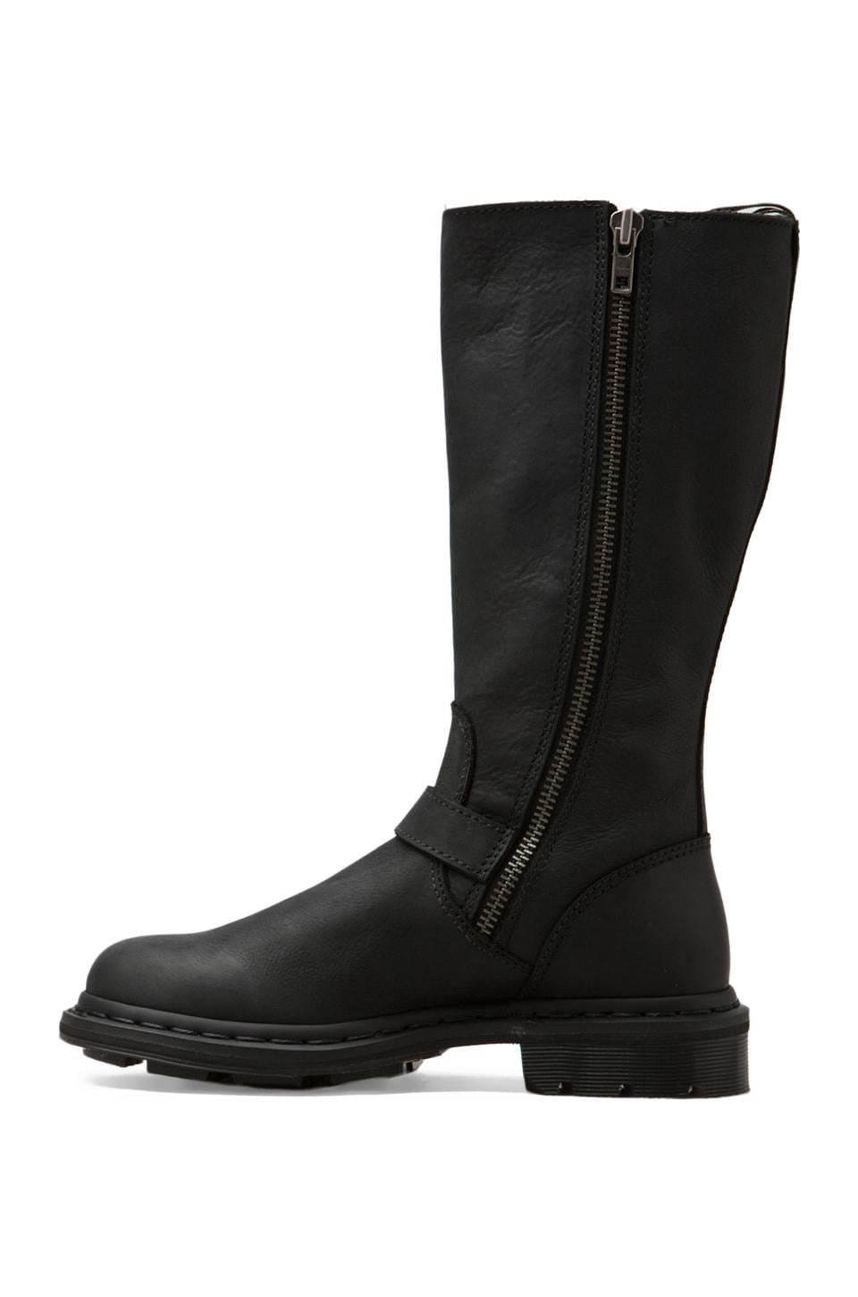 Dr. Martens Robin Tall Biker Boot in Black